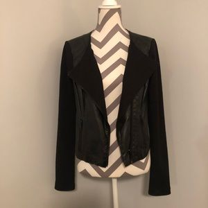 GUESS mixed media layering jacket